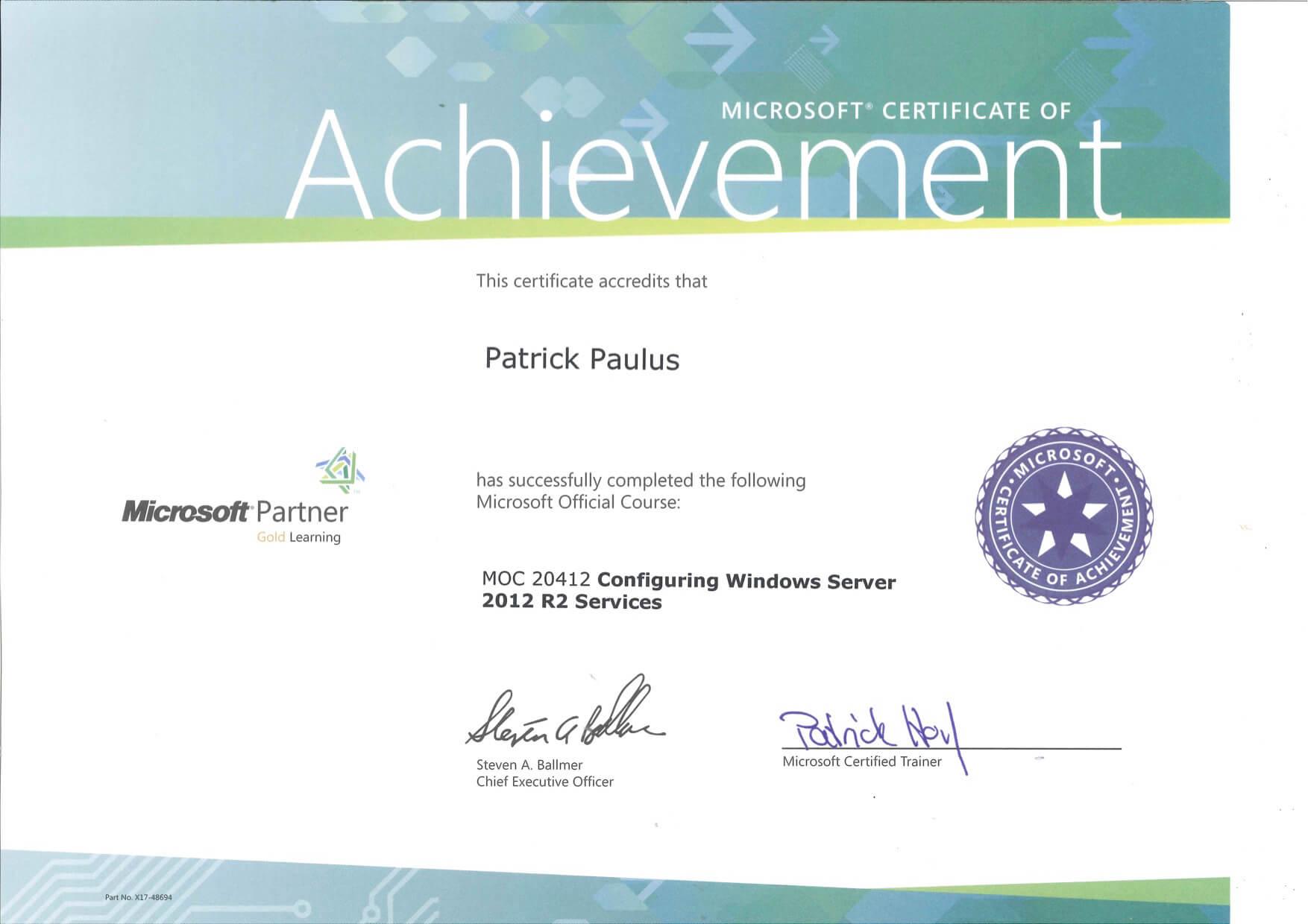 Pp Windows Zertifikat Configuring Windows Server 2012r2 Services