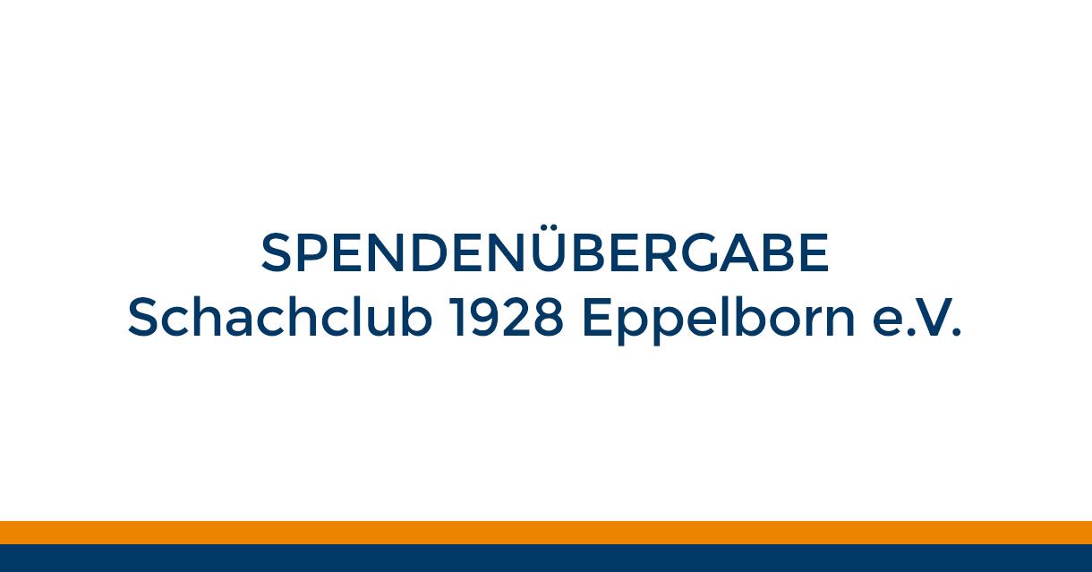 Spendenübergabe Schachclub 1928 Eppelborn e. V. Beitragsbild